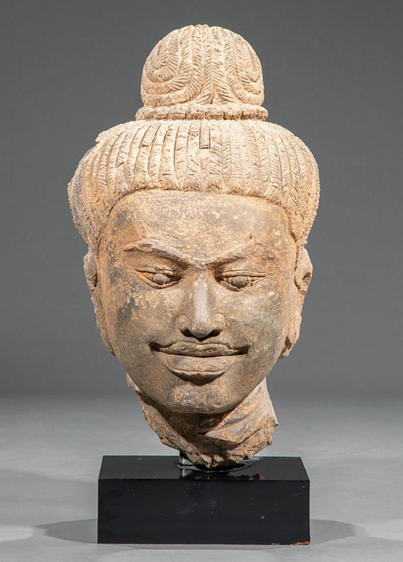 South Asian Terracotta Head of Buddha