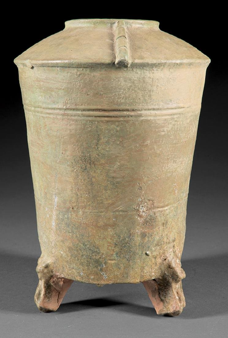 Chinese Han-Style Glazed Pottery Grain Jar