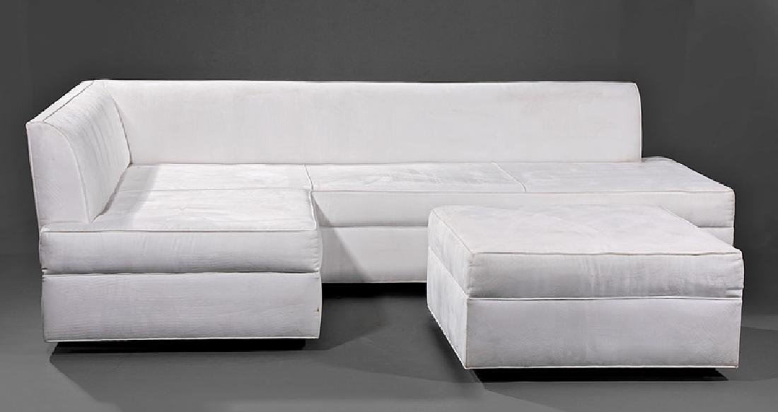 L-Shaped Sofa & Ottoman by Lee Ledbetter & Assoc