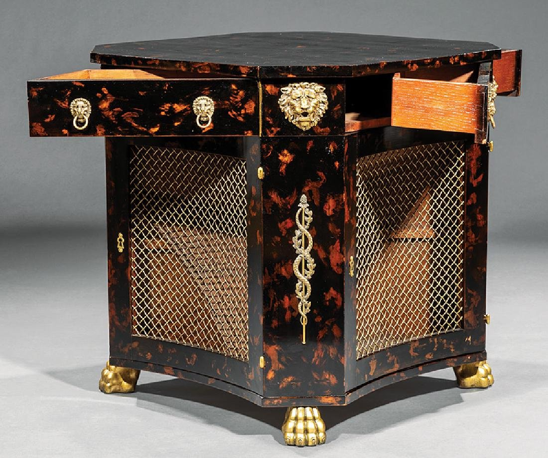 Bronze-Mounted, Paint-Decorated Lacquer Table - 2