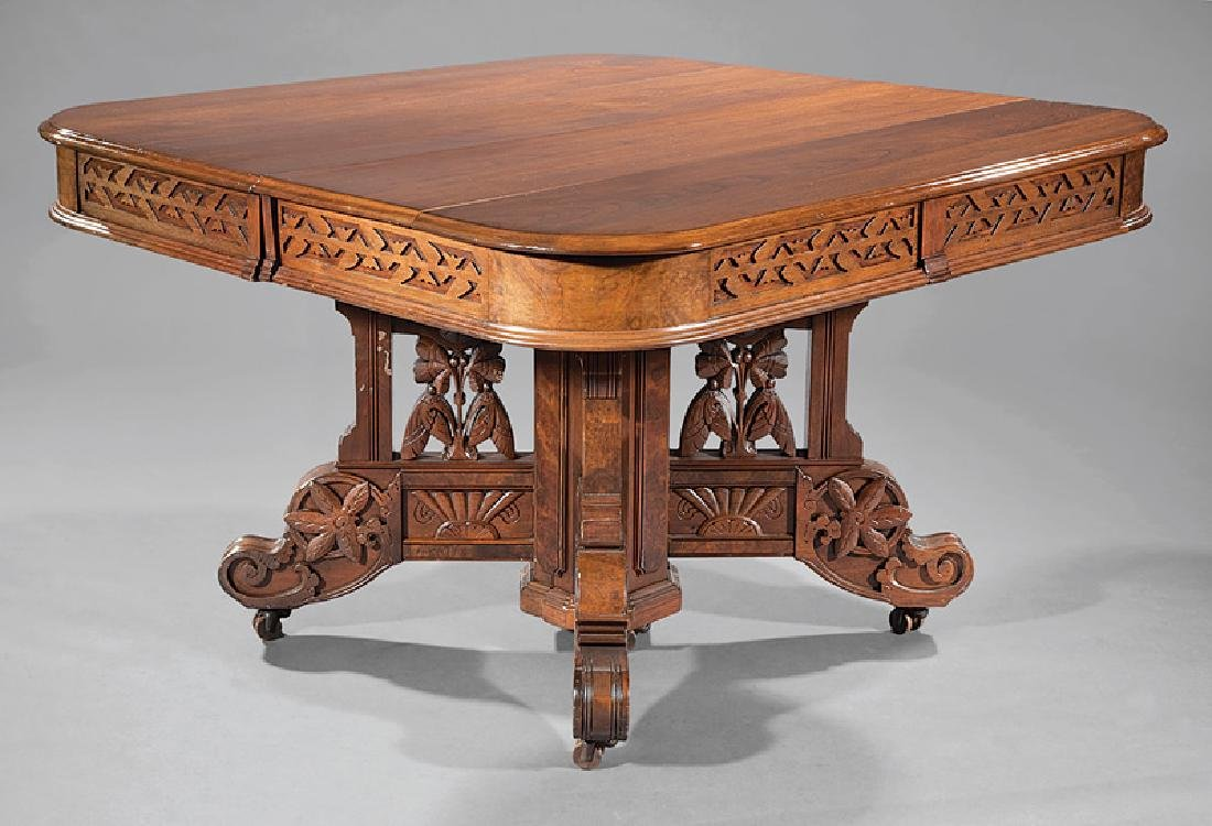 American Aesthetic Walnut Extension Dining Table