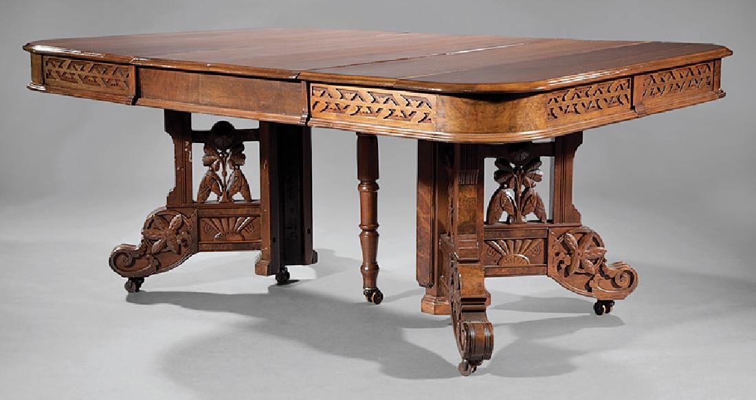American Aesthetic Walnut Extension Dining Table - 2