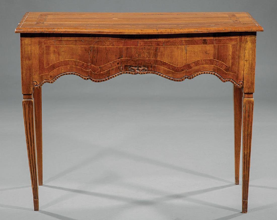 Continental Inlaid Fruitwood Writing Table - 2
