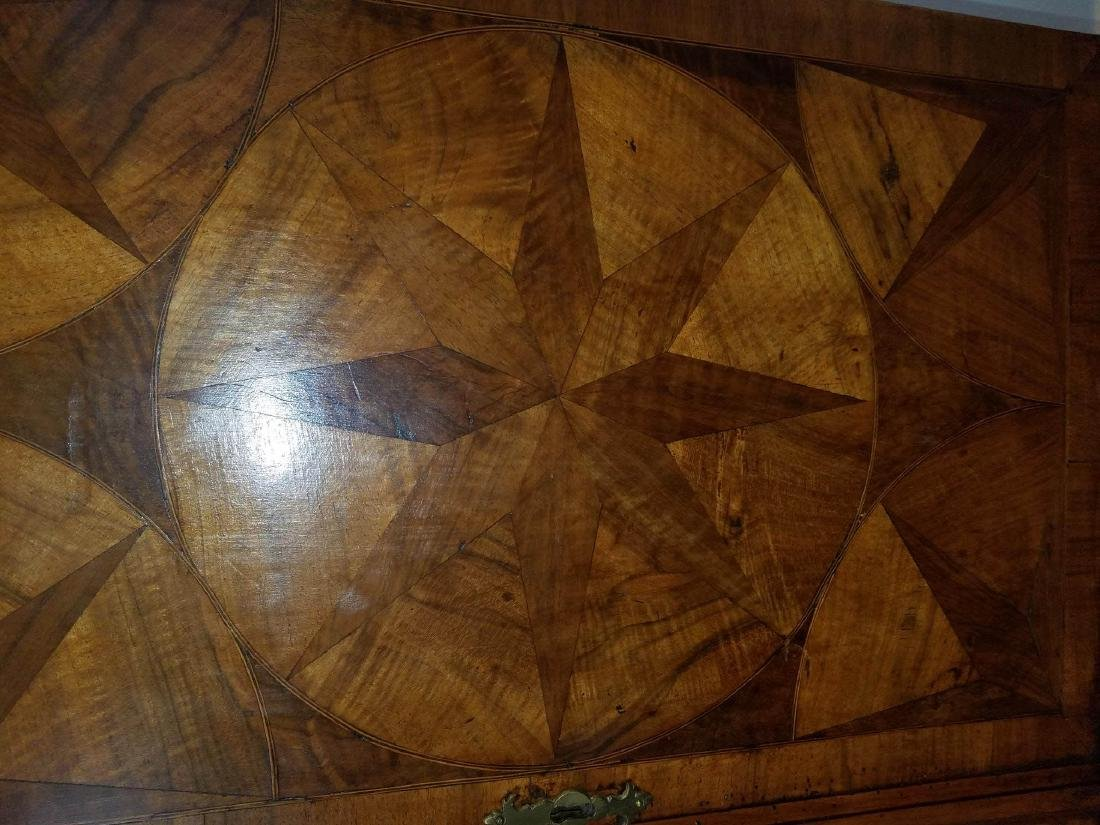Compass Star Inlaid Walnut Cabinet on Stand - 4