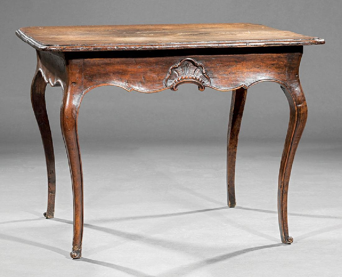 French Provincial Carved Walnut Side Table