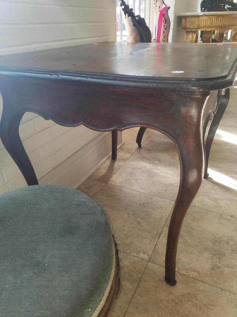 French Provincial Carved Walnut Side Table - 8