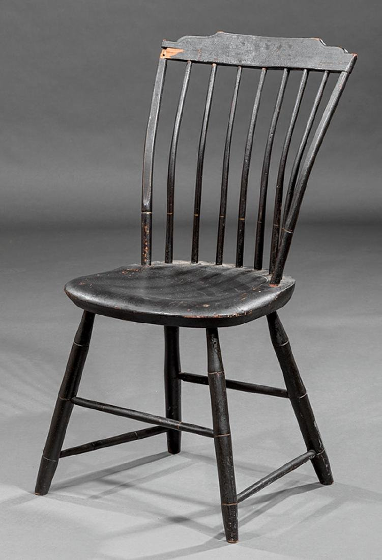 Four American Painted Windsor Side Chairs - 2