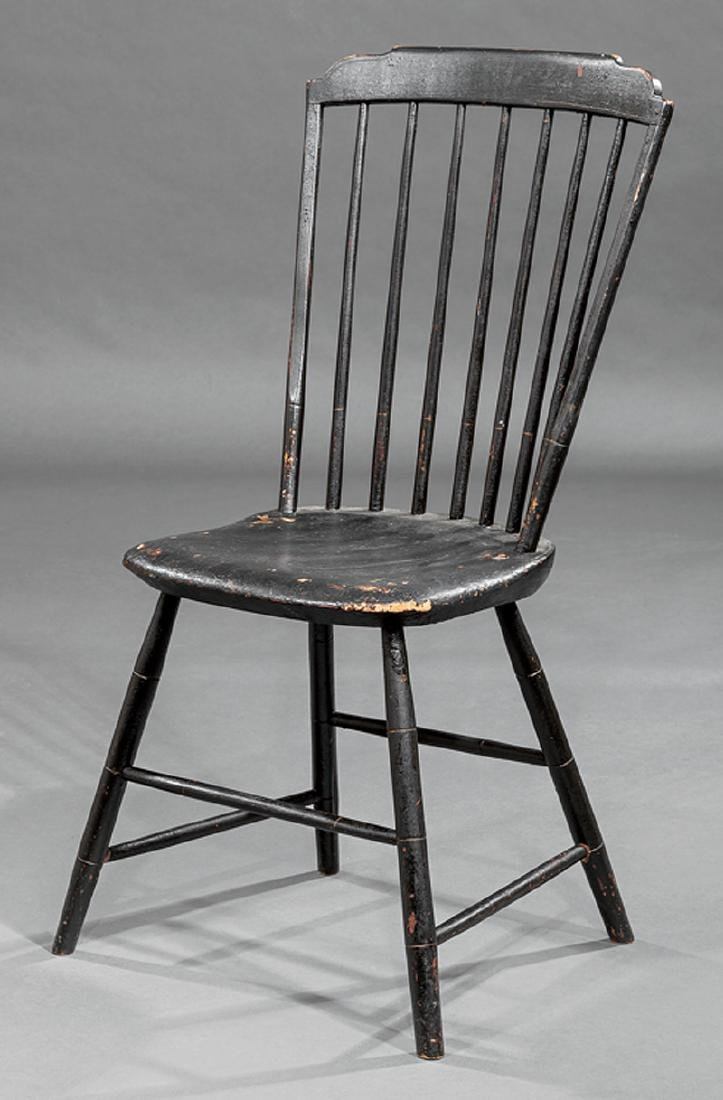 Four American Painted Windsor Side Chairs - 3