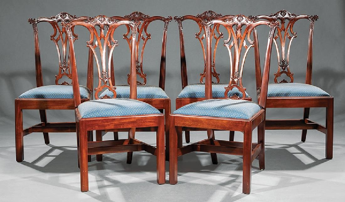 Set of Eight Chippendale-Style Dining Chairs