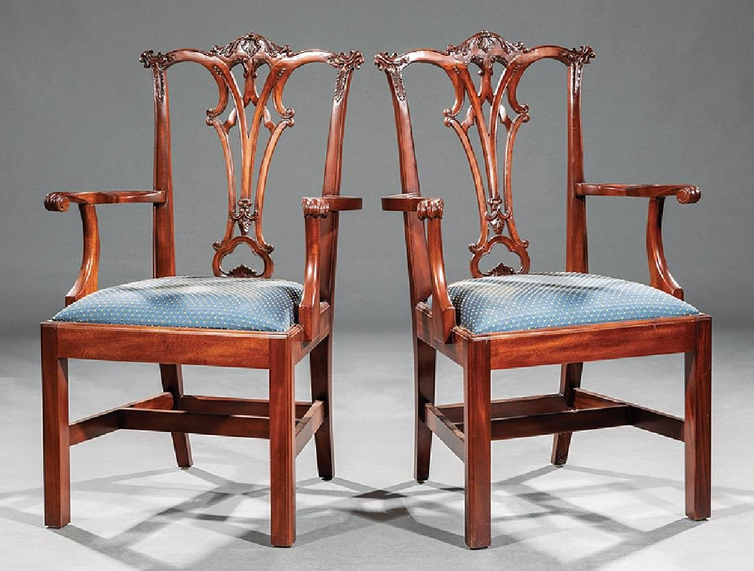 Set of Eight Chippendale-Style Dining Chairs - 2