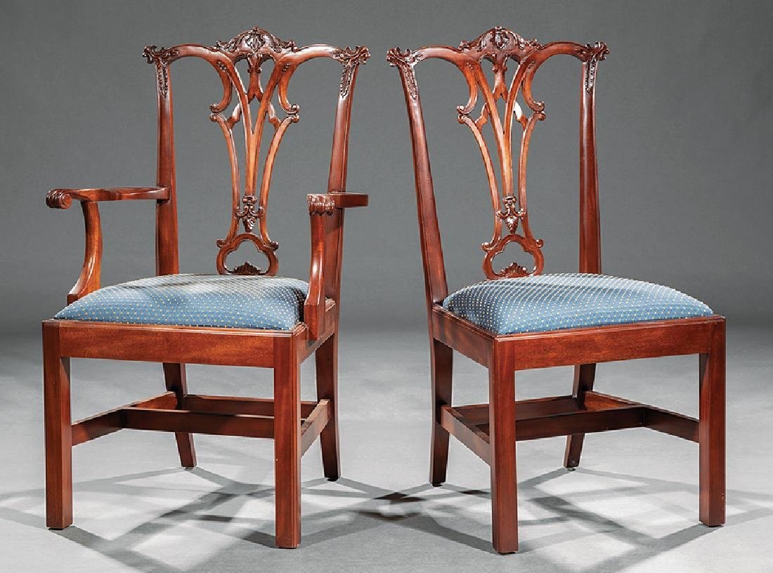 Set of Eight Chippendale-Style Dining Chairs - 3