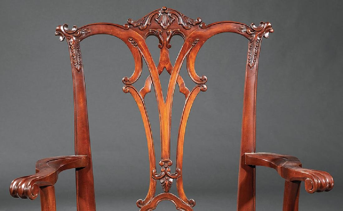 Set of Eight Chippendale-Style Dining Chairs - 4