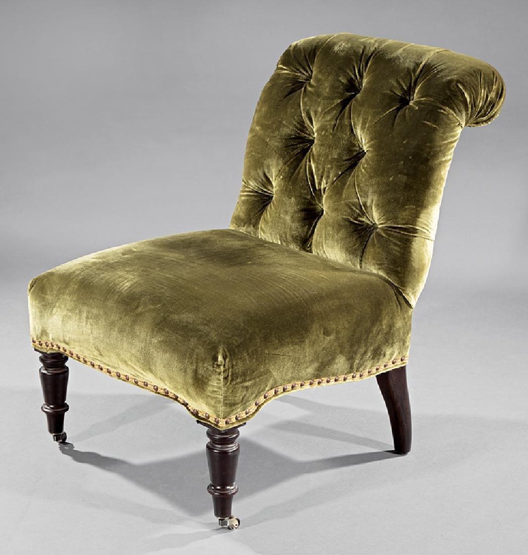 William IV Walnut Slipper Chair