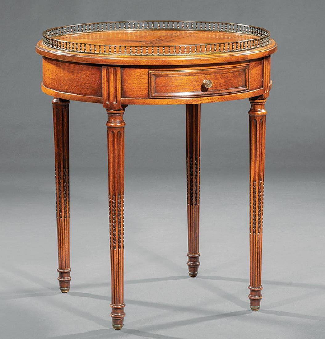 Bronze-Mounted Walnut Bouillotte Table