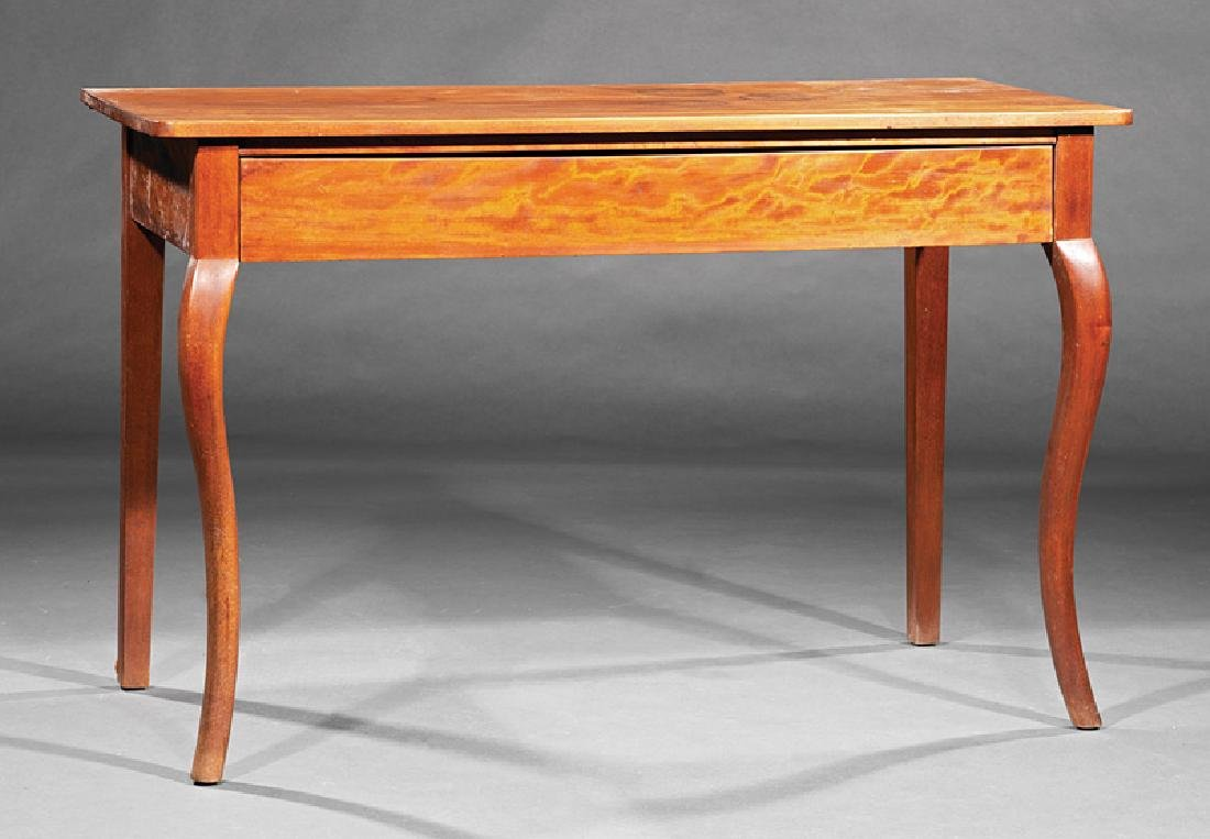 Provincial Carved Walnut Side Table