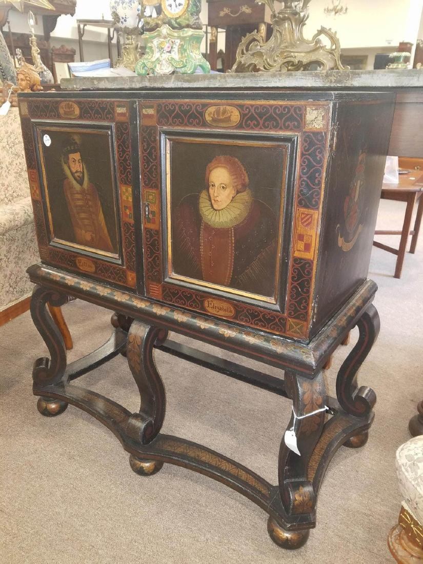 Painted and Parcel Gilt Cabinet on Stand - 3