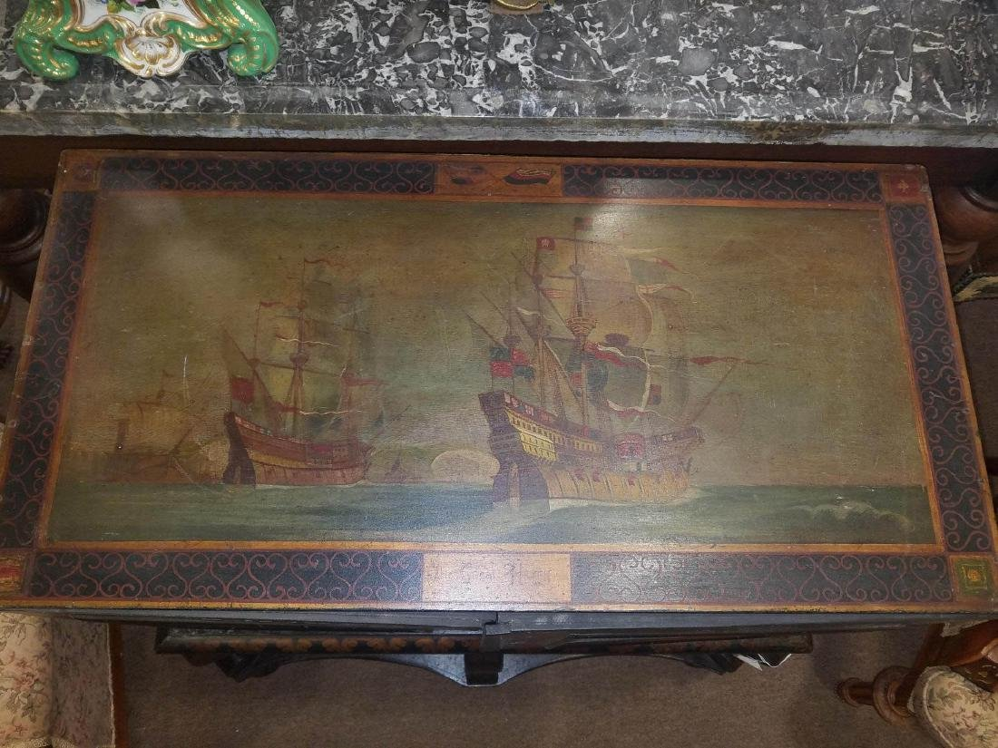 Painted and Parcel Gilt Cabinet on Stand - 4