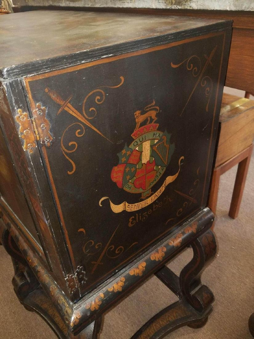 Painted and Parcel Gilt Cabinet on Stand - 6
