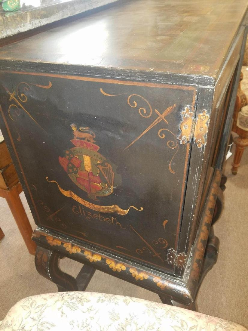 Painted and Parcel Gilt Cabinet on Stand - 8