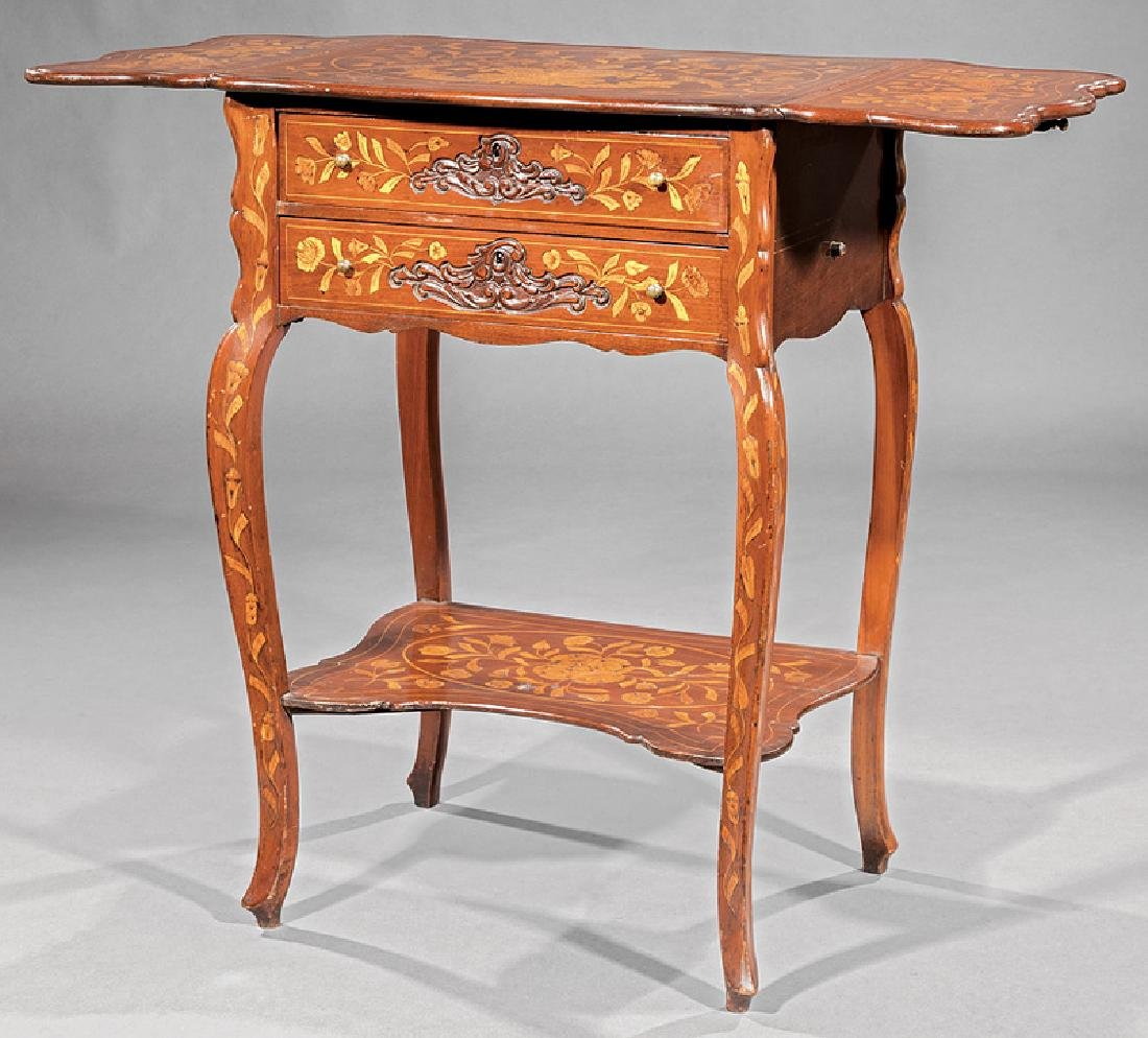 Dutch Marquetry Side Table - 2