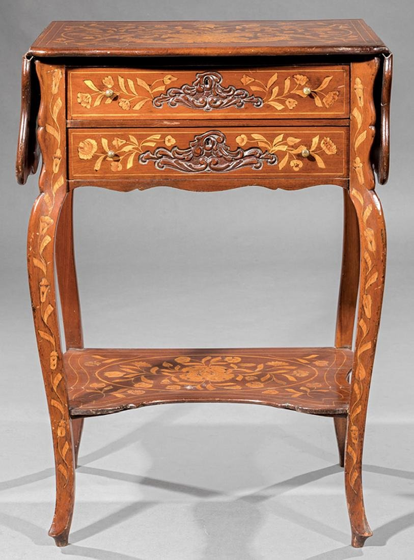 Dutch Marquetry Side Table - 3