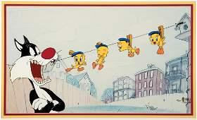 Warner Brothers Sylvester & Tweety Cel