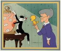 Warner Brothers Sylvester, Tweety & Grandma Cel
