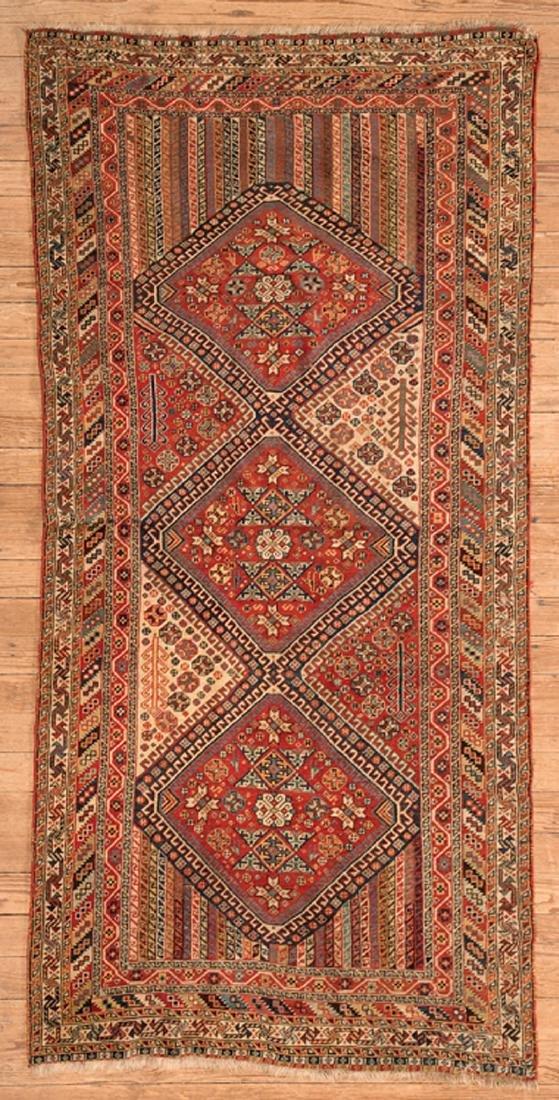 Antique Qashqua-Style Shiraz Carpet