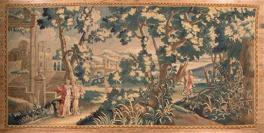 Antique Continental Verdure Tapestry