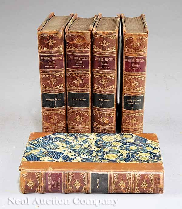 0009: 28 Leather-Bound Volms., Various Authors, c. 1870