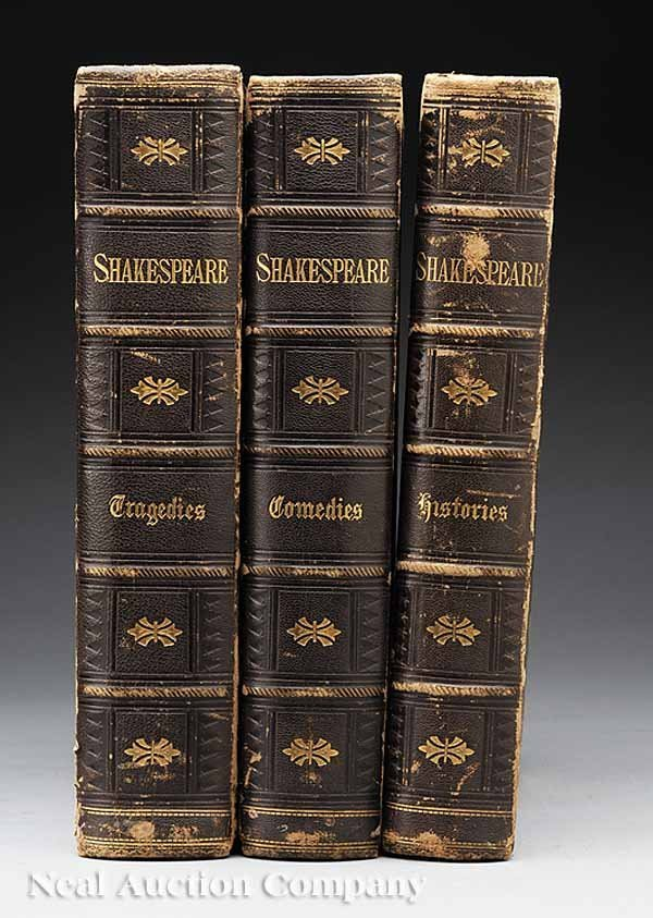 0010: Cassell's Illustrated Shakespeare, 1864, 3 Vols.