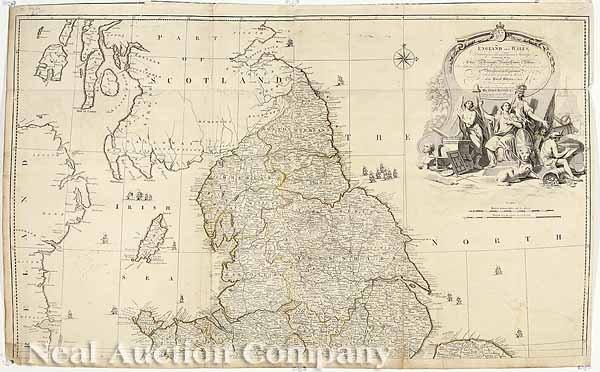 0014: John Rocque, Large 2 Sheet Map, 1780