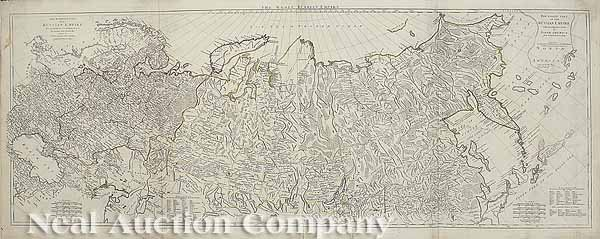 0016: Russian Map from d'Anville's maps, c. 1780