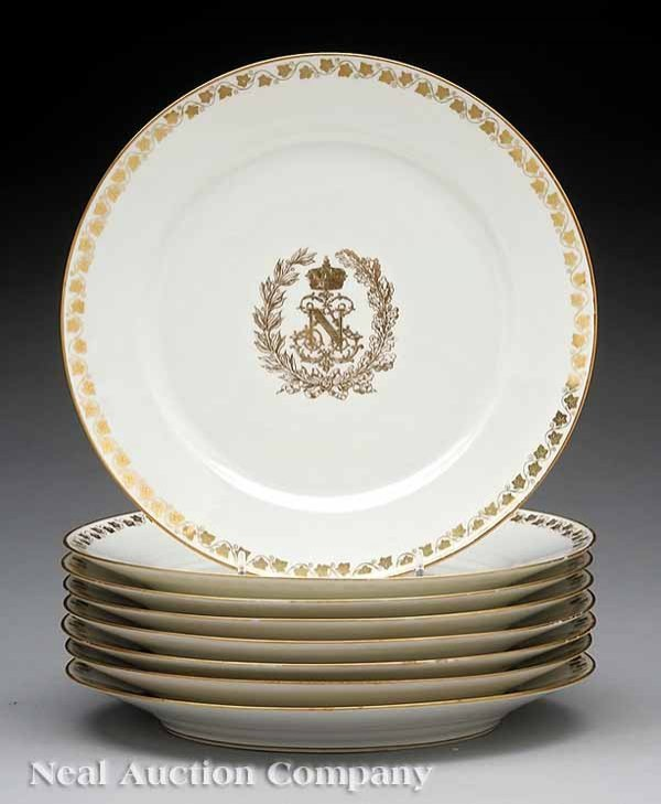 0132: Set of Eight Sevres Porcelain Plates