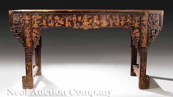 0694: Antique Chinese Carved Hardwood Altar Table