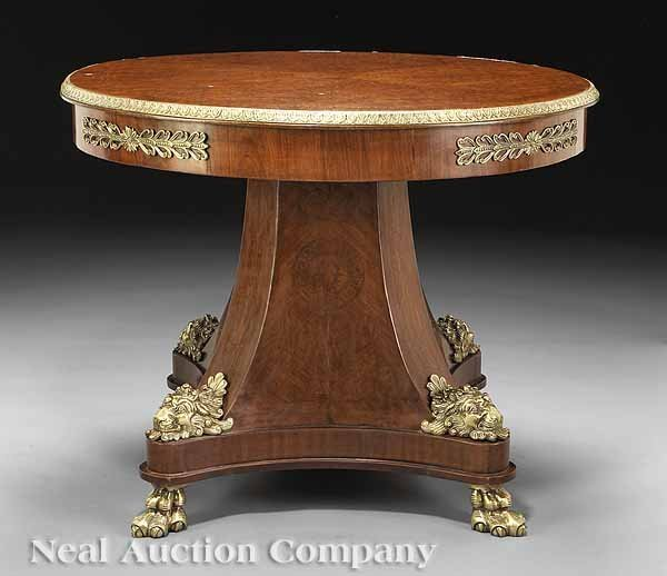 0708: Empire-Style Bronze-Mounted Center Table