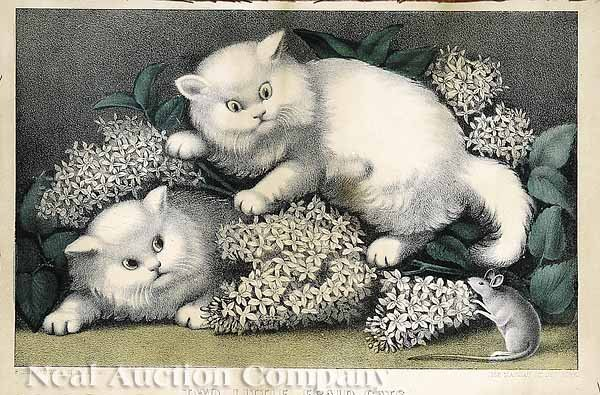 1149: Pair of Currier and Ives Cat Prints