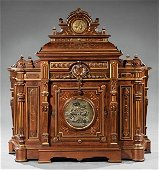 """Parlor Cabinet marked """"Moore, York & Howell"""""""