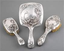Unger Bros Art Nouveau Sterling Silver Dresser Set