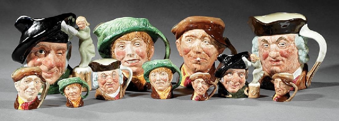 11 Royal Doulton Assorted Character Toby Jugs