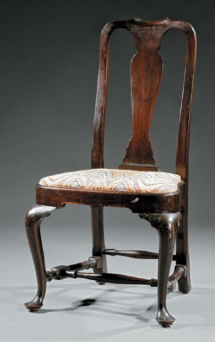 Queen Anne-Style Mahogany Side Chair