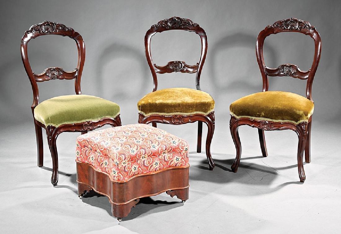 3 American Balloon-Back Mahogany Side Chairs