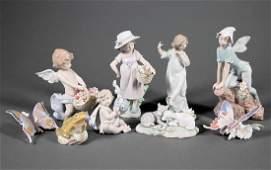 Nine Lladro Porcelain Figures and Figurines