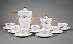 Art Deco Limoges Porcelain Coffee Service