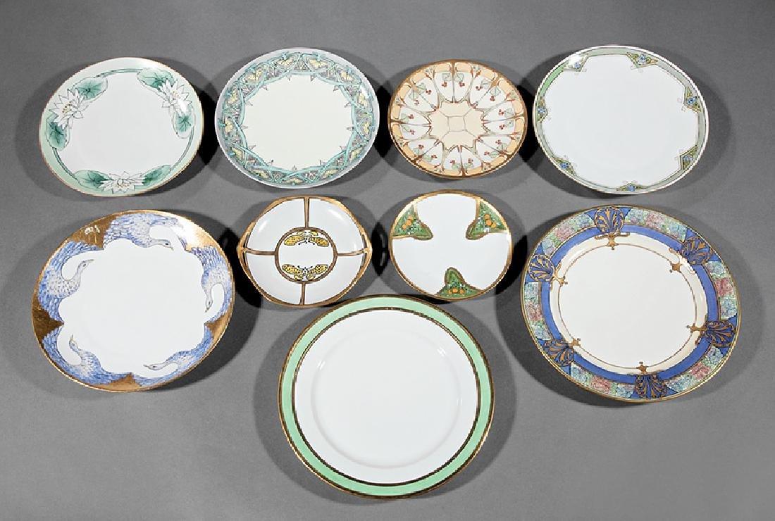 9 Art Nouveau & Art Deco Porcelain Dishes