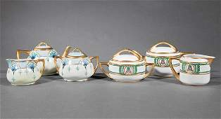 2 Art Nouveau Porcelain Tea Sets