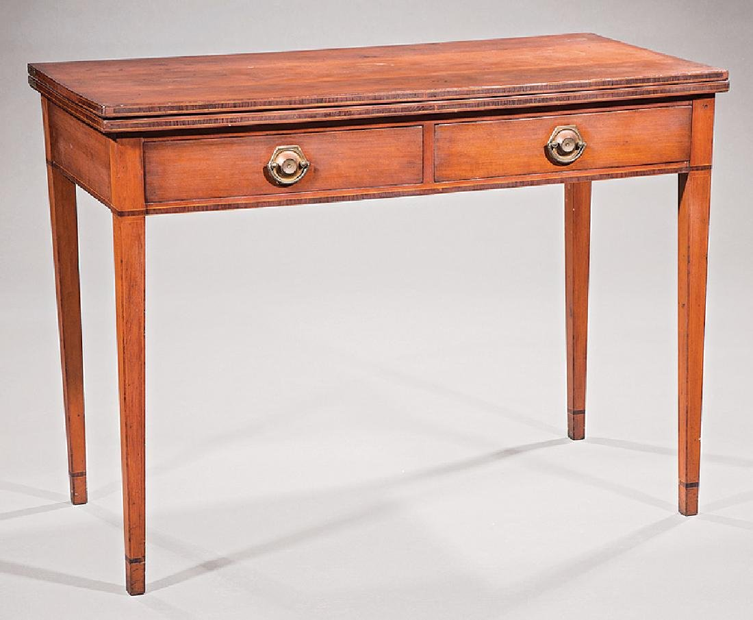 George III-Style Inlaid Mahogany Serving Table