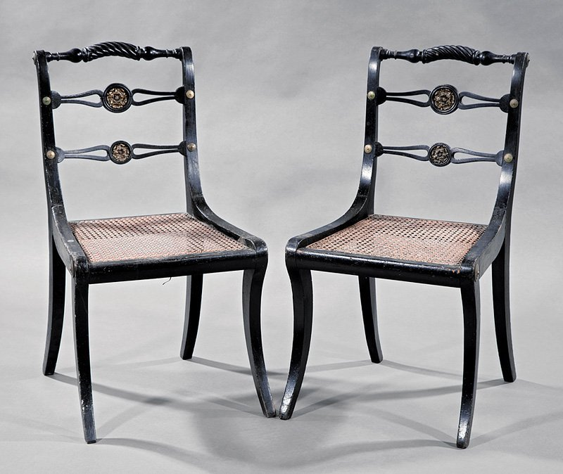 2 Antique Regency-Style Side Chairs
