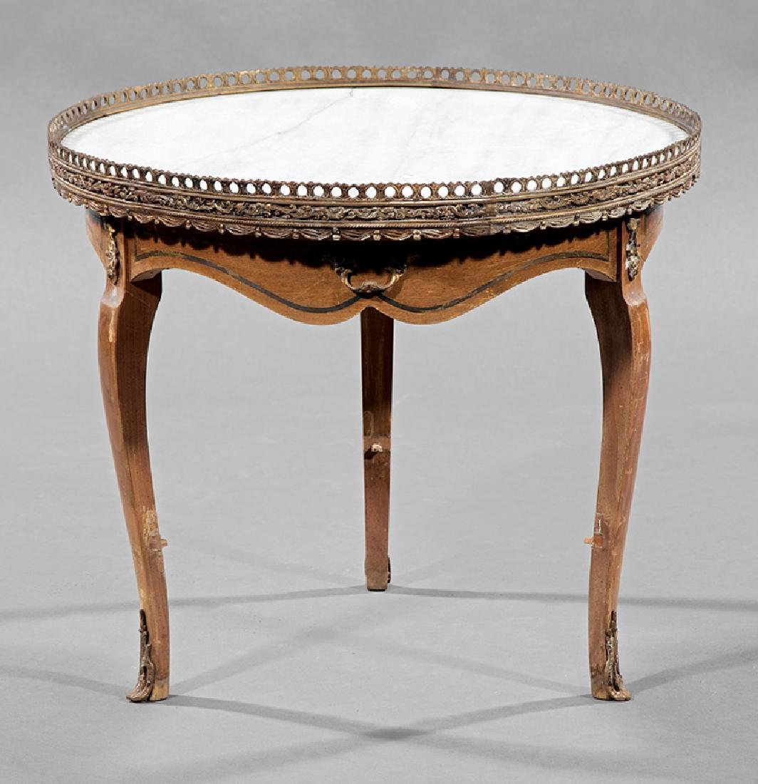 Louis XV-Style Fruitwood Bouillotte Table