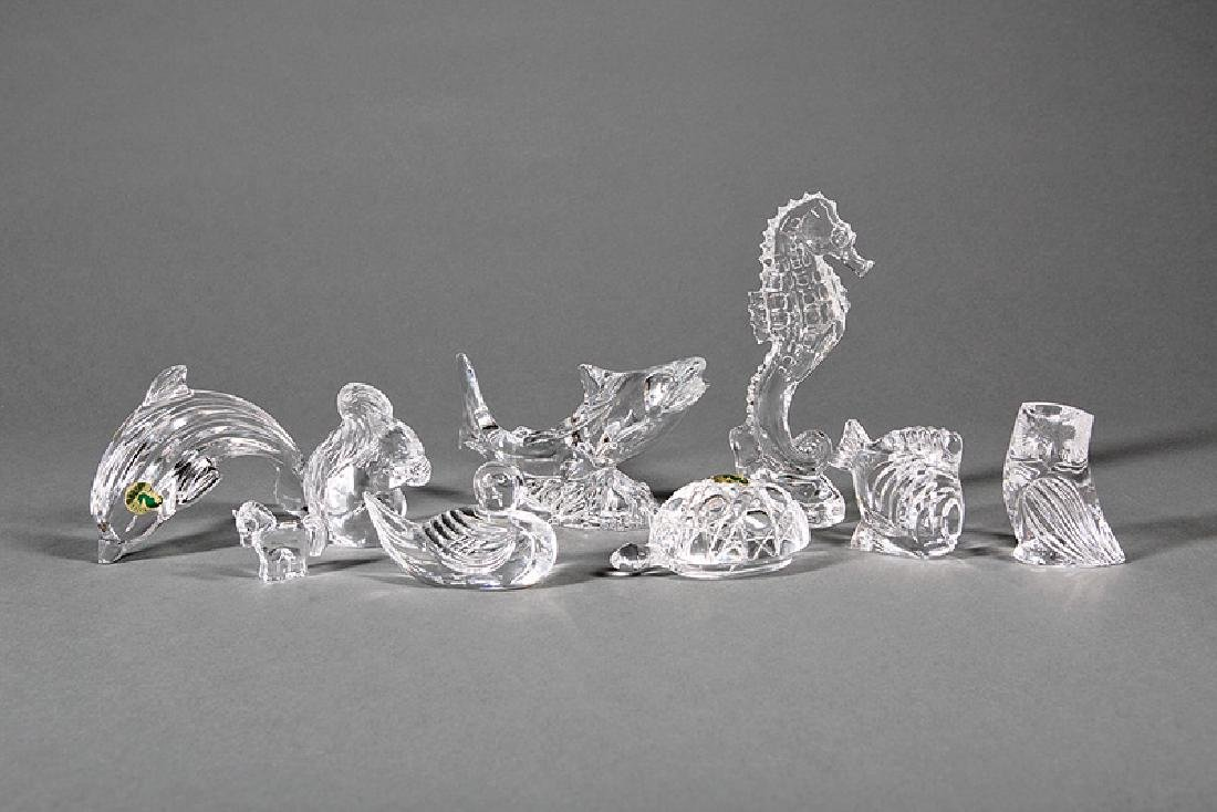 Group of Eight Waterford Crystal Figures